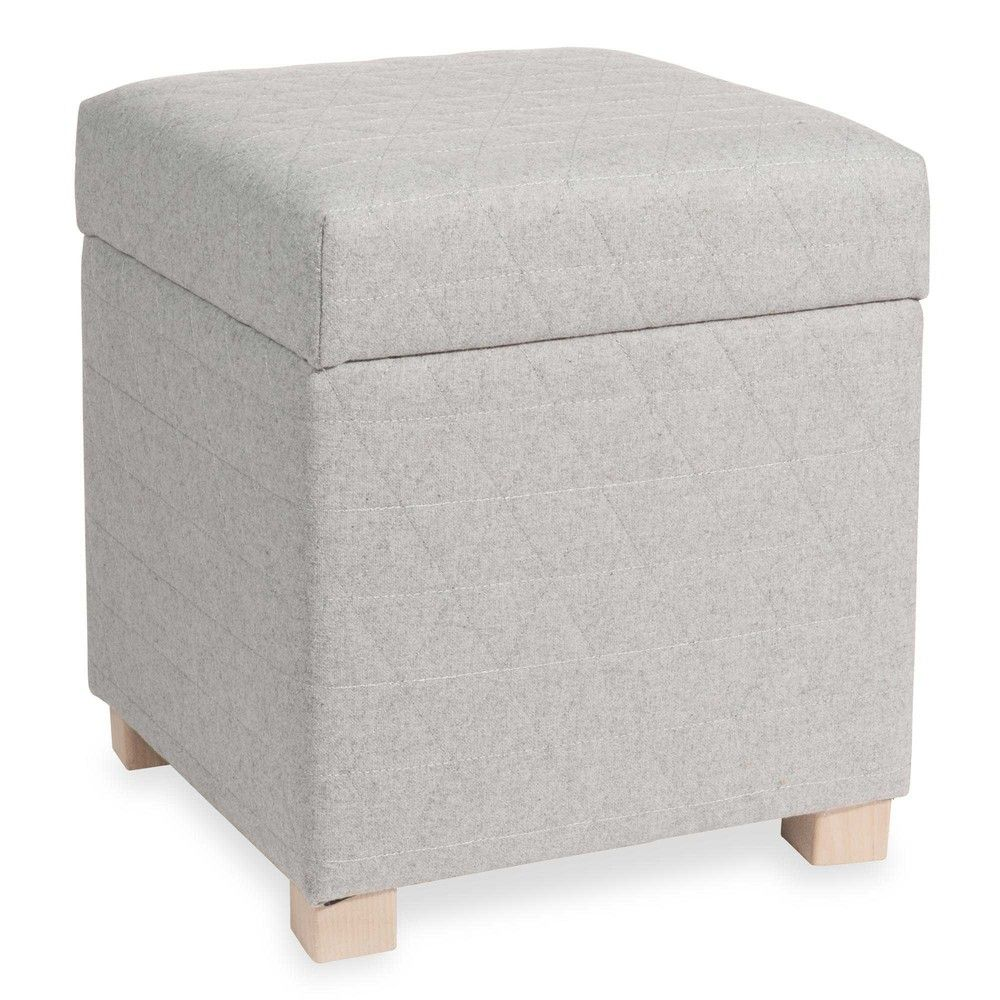 Puff gris con almacenaje LAPLAND | Salón | Pinterest | Gris ...