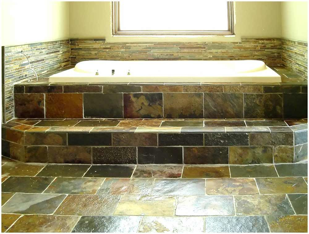 Natural Stone Best Tile for Bathroom - like the small tiles around ...