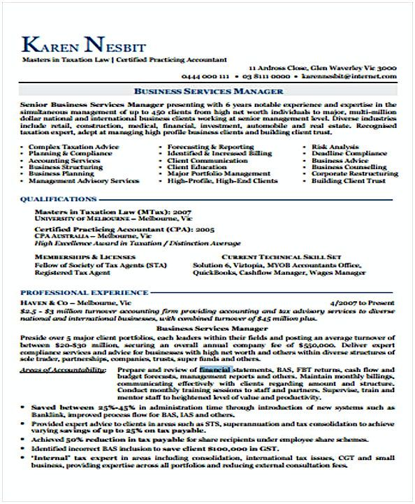 Financial Resume template sample , Change Management Resume , What ...