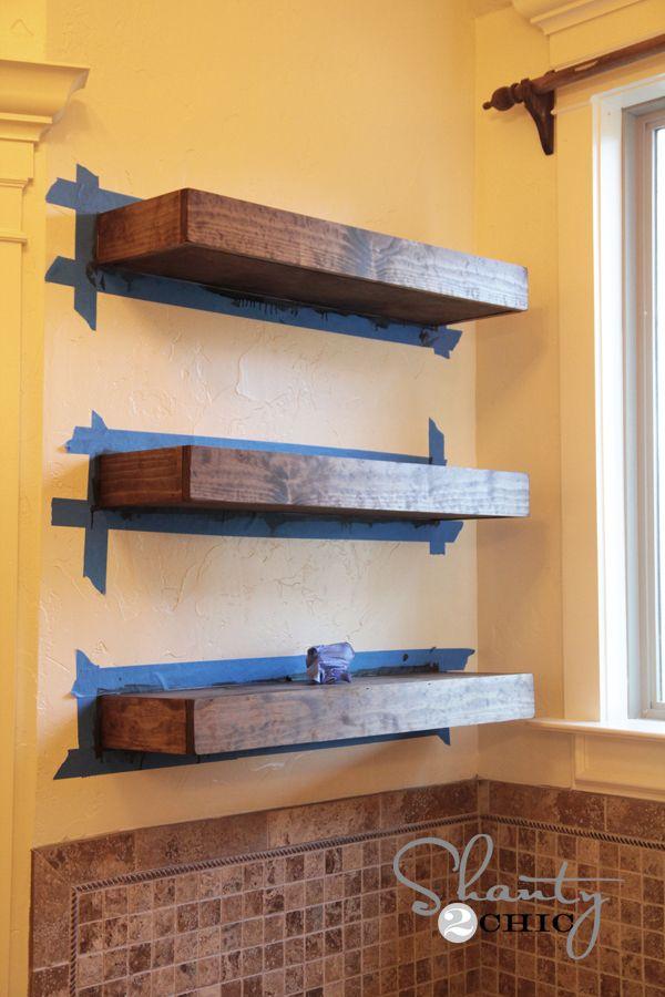 Easy Diy Floating Shelves Floating Shelf Tutorial Video Amp Free Plans Floating Shelves Diy