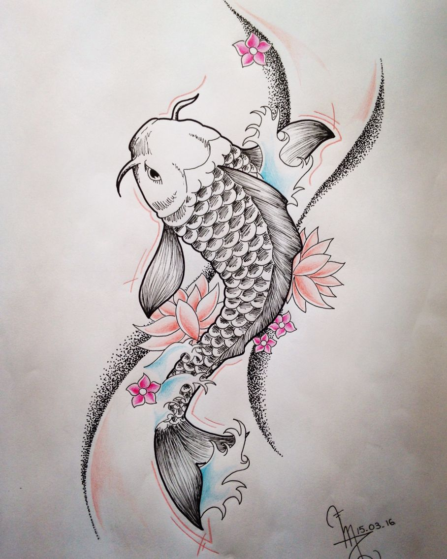 Carpe Koi Koi Tattoo Design Koi Fish Drawing Coy Fish