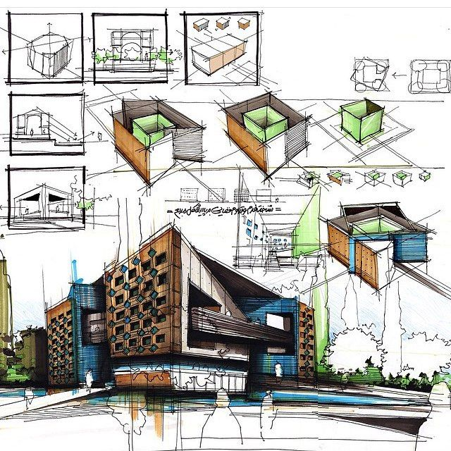Really nice composition perspective by lmimos for Architectural design concept ppt