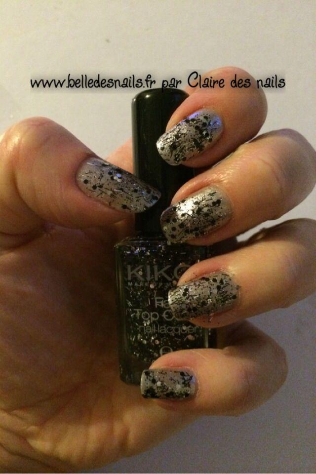 #Nailart Graffitis - Belle des nails #nail #nails #manicure #glitter #paillettes #fancy #kiko #www.belledesnails.fr