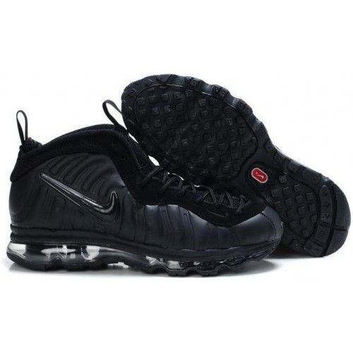 Nike Air Basketball Refering Shoes | Nike Air Max Foamposite Pro all black  basketball shoes for
