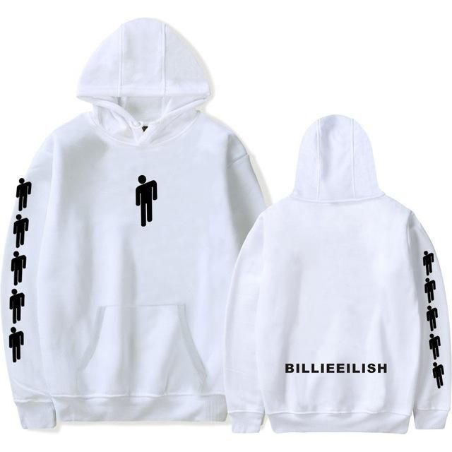 Women Autumn Billie Eilish Hip Hop Hooded Pullovers Fashion Female
