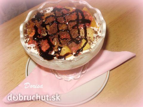 Smotanovo-tvarohový dezert v pohári