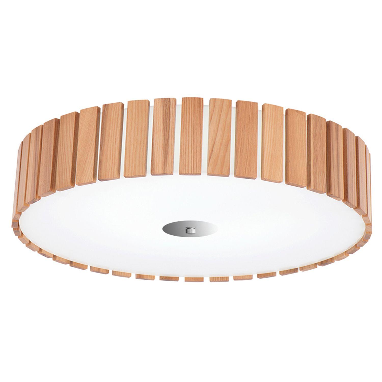 lámpara plafón madera y cristal para techo | comprar plafones y