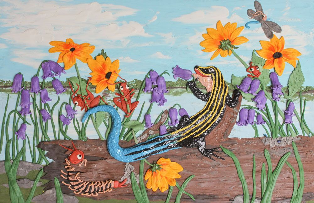 Stewie the Skink, star of Skink on the Brink.  Ill by Suzanne Del Rizzo.  Written by me!  Coming Spring 2013
