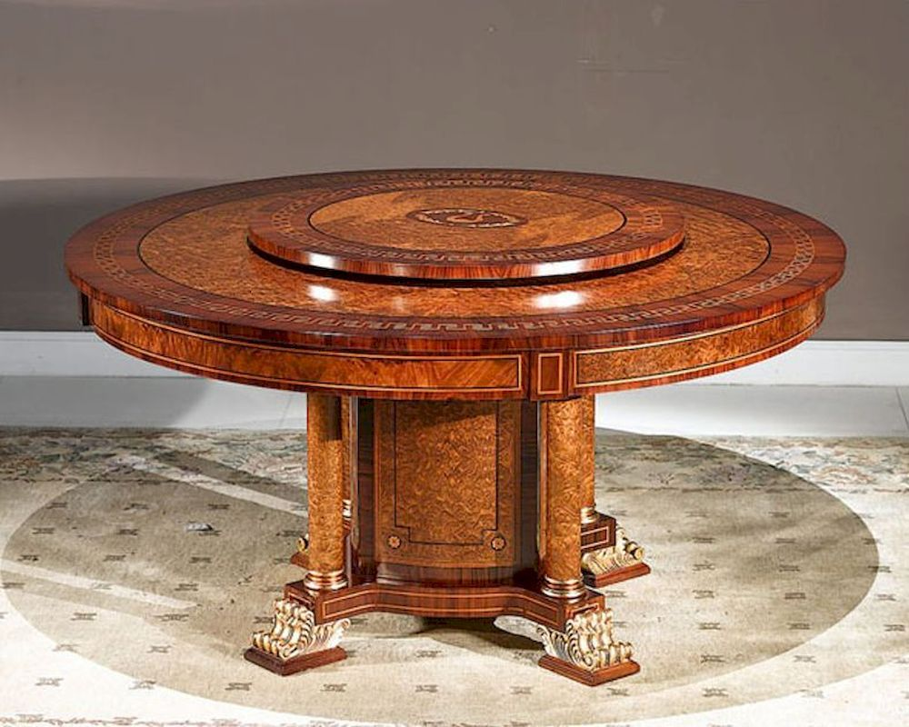 round dining table with lazy susan. Infinity Furniture Dining Table W/ Lazy Susan Orpheus INOP-712 Round With