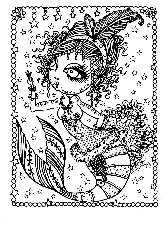 Deborah Muller Art Chubbymermaid Mermaid Coloring Book Mermaid Coloring Pages Mermaid Coloring [ 1500 x 1090 Pixel ]