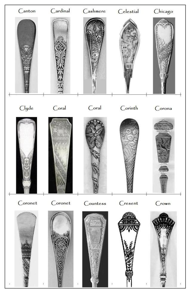 Some 19th Century Flatware Patterns Flatware And Decorating