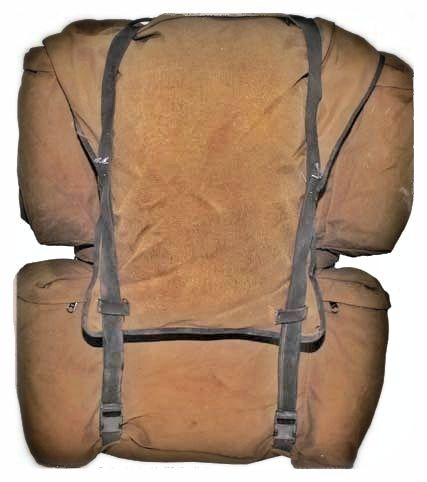 Vintage Sadf M83 Rucksack In Nutrina Brown Cordura Canvas