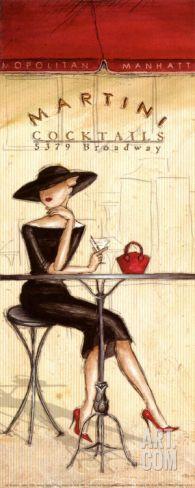 Cocktails Art Print by Andrea Laliberte at Art.com