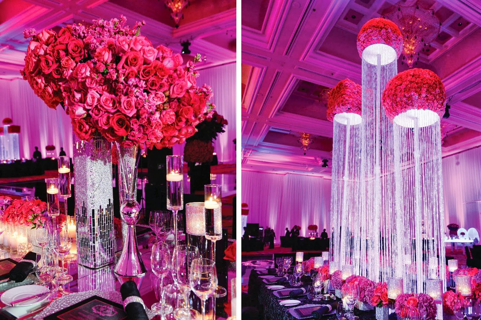 Tall bling centerpieces amazing arrangement of