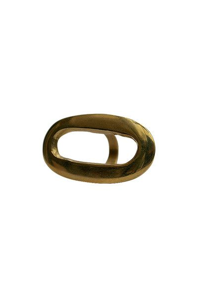 Oval Brass Statement Ring