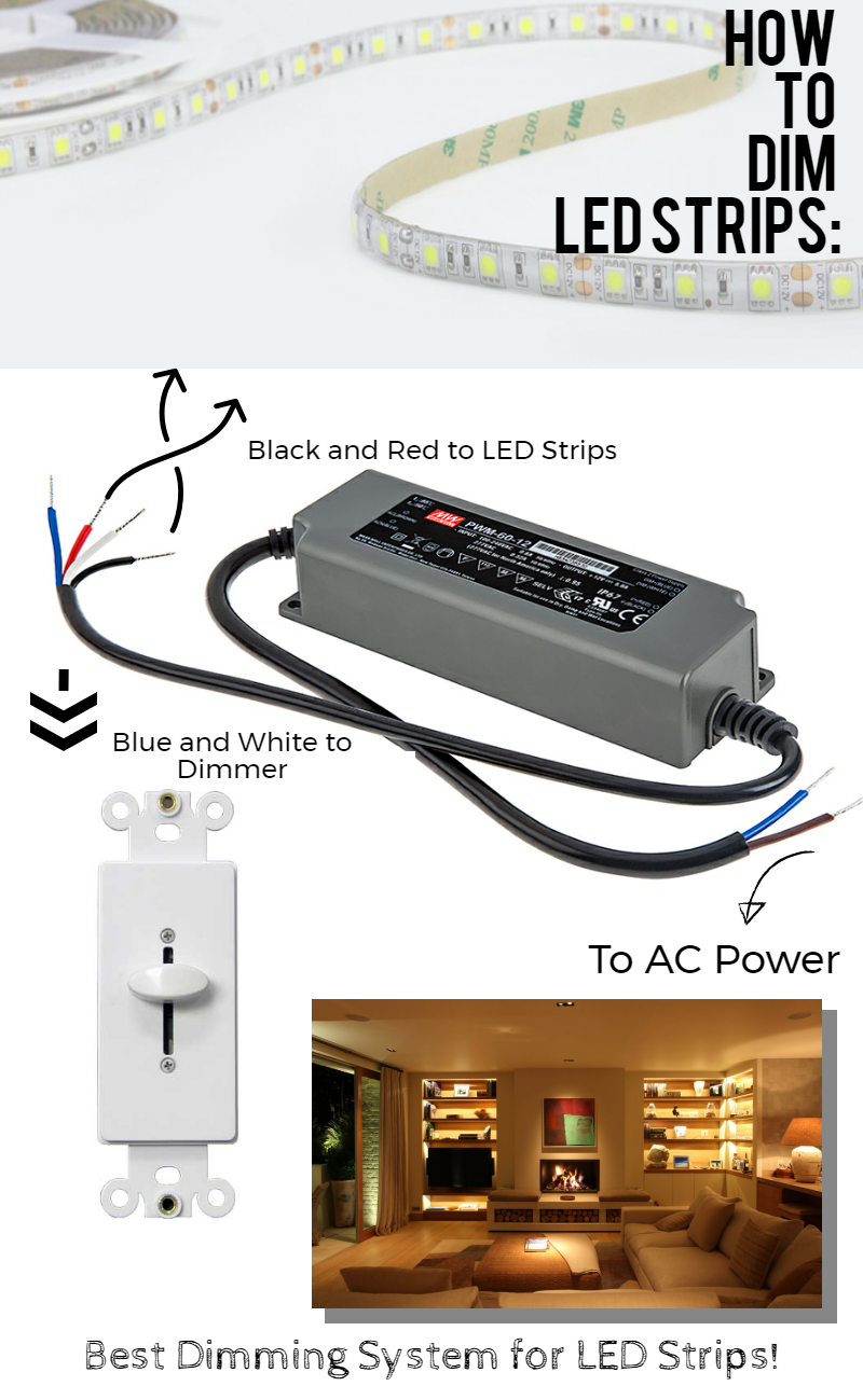 dimming led strip lights from a simple wall switch check out how you can do it yourself