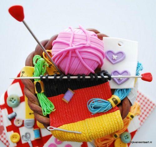 Knitting Sewing Cake Breien Taart Taart En Mooie Taarten