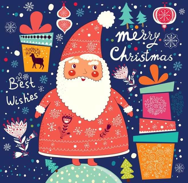 10 Video Templates For Your Christmas Card Christmas Illustration Christmas Drawing Christmas Art