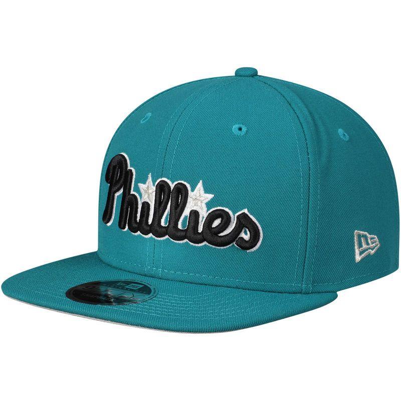 finest selection 98c34 e4ed4 Philadelphia Phillies New Era Crossover 9FIFTY Snapback Adjustable Hat –  Aqua