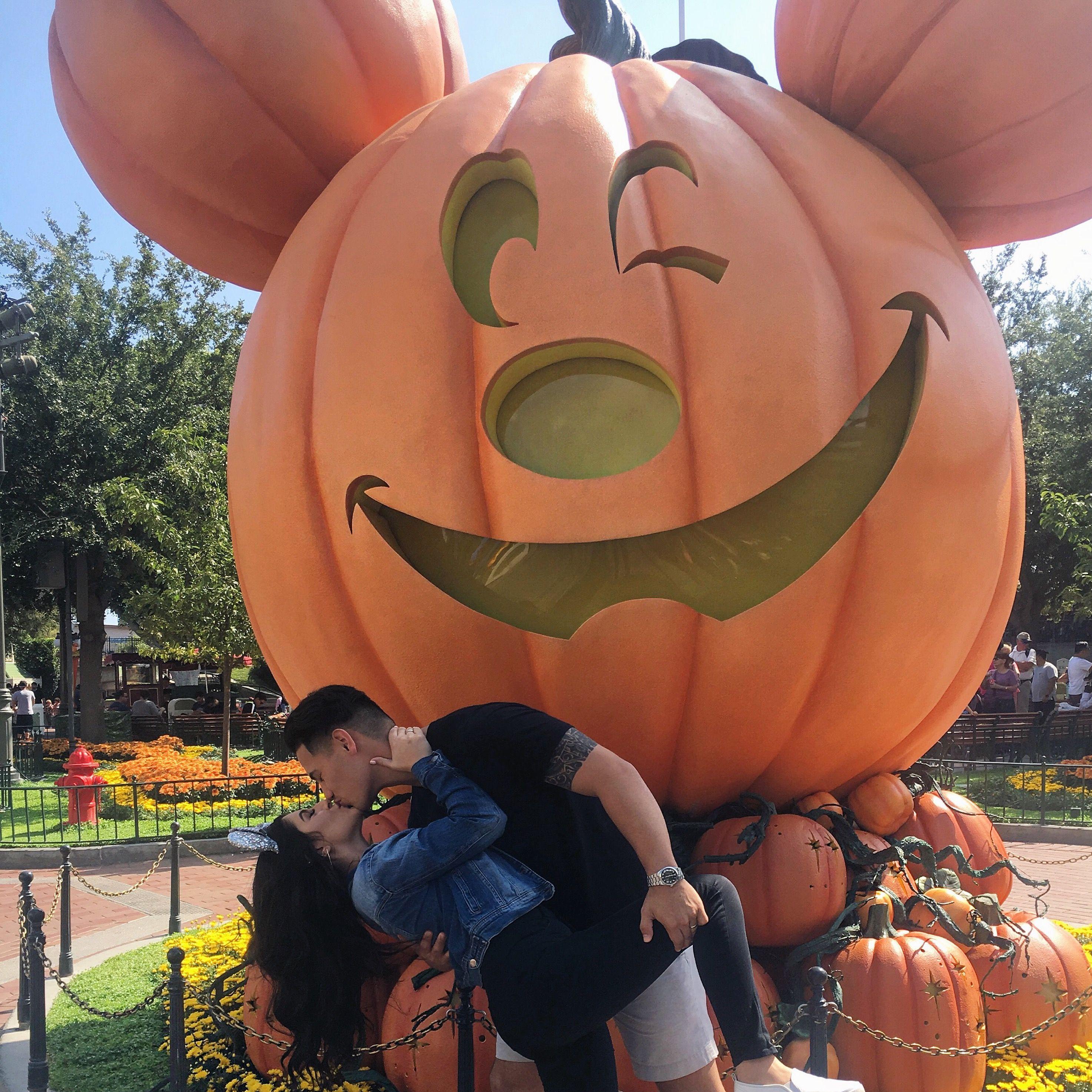 Disneyland During Halloween Couple Photo Idea Disneyland