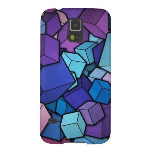 Purple Cubes Galaxy S5 Covers