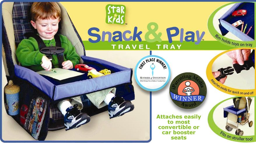 childs travel tray table for the car clips onto car seat great for kids