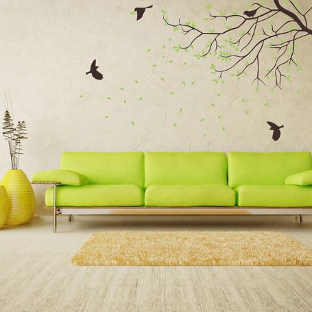 Nature Tree Wall Stickers Murals In Living Room Walls Decoration Ideas