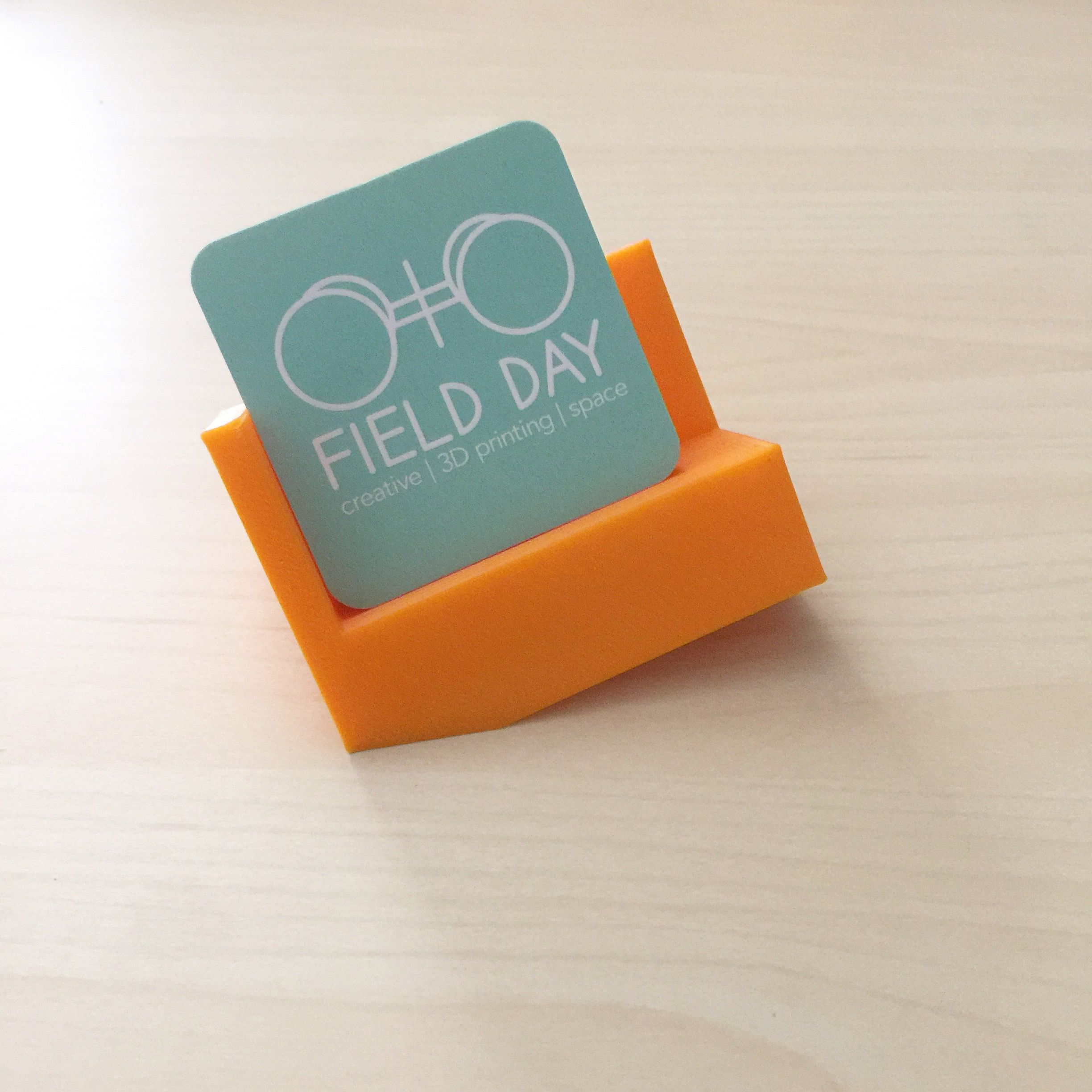 Test Print\\\\ 3D-printed business card holder \\\\ Attribution at ...