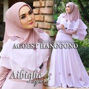 Gamis Cantik Aibighe Syar I Pink Muda Violet Online Shop Violet