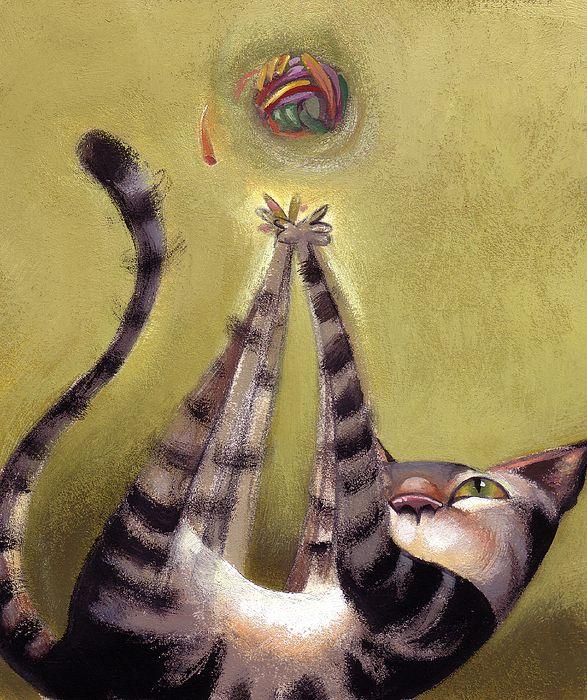Oh Boy by Barbara Hranilovich Cats illustration, Animal