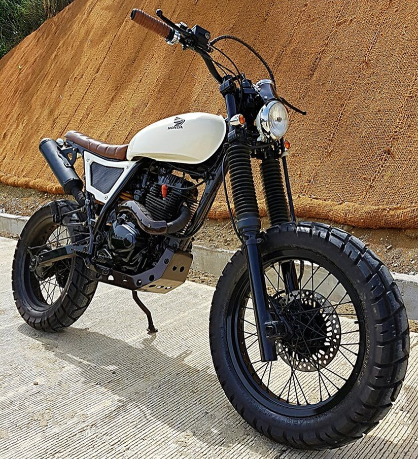 On Bikebound Com Honda Xr200 Scrambler By 3b Customs Philippines Built For Pro Surfer Lukelandr Tracker Motorcycle Honda Scrambler Street Tracker Motorcycle