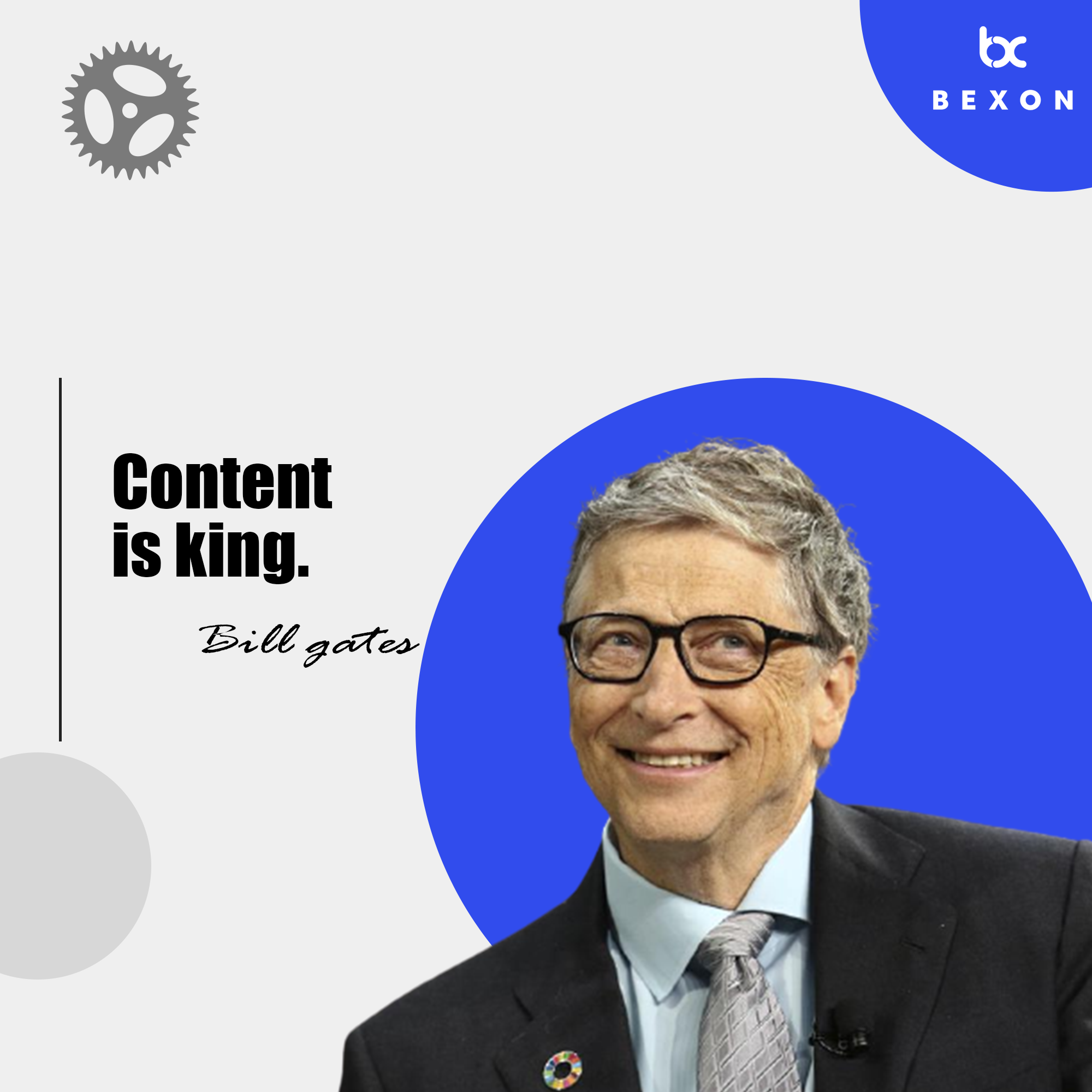Bill Gates Quotes Content Is King In 2021 Bill Gates Quotes Digital Marketing Agency Marketing Quotes