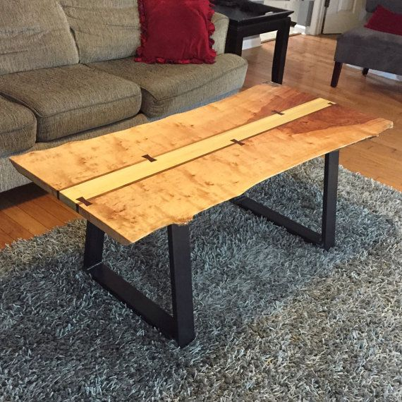 Live Edge Birch Coffee Table Coffee Table Handmade Furniture