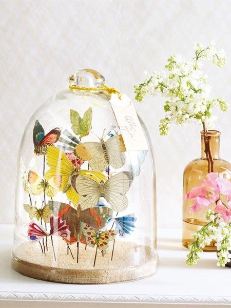 basteln im fr hling befl gelnde diy anleitungen basteln paper and butterflies. Black Bedroom Furniture Sets. Home Design Ideas