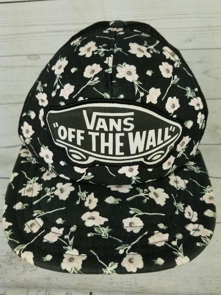 Vans Off the Wall Snapback Adjustable Trucker Mesh Hat Cap Floral Pattern  Womens  fashion   369d4bca46