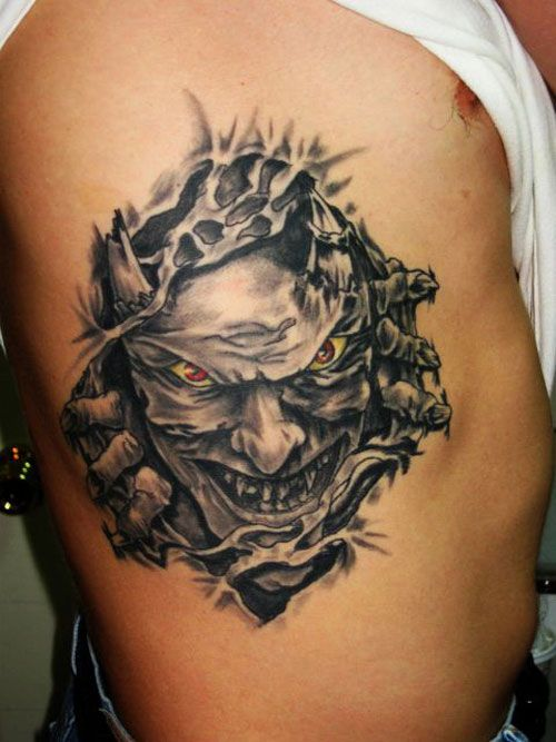 1b59d2b13 Demon Tattoo Designs | Demon Tattoo On Ribs | Awesome stuff | Demon ...