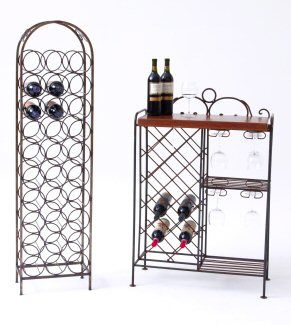 Wrought Iron Wine Racks Love The One On Right Perfect For A Condo