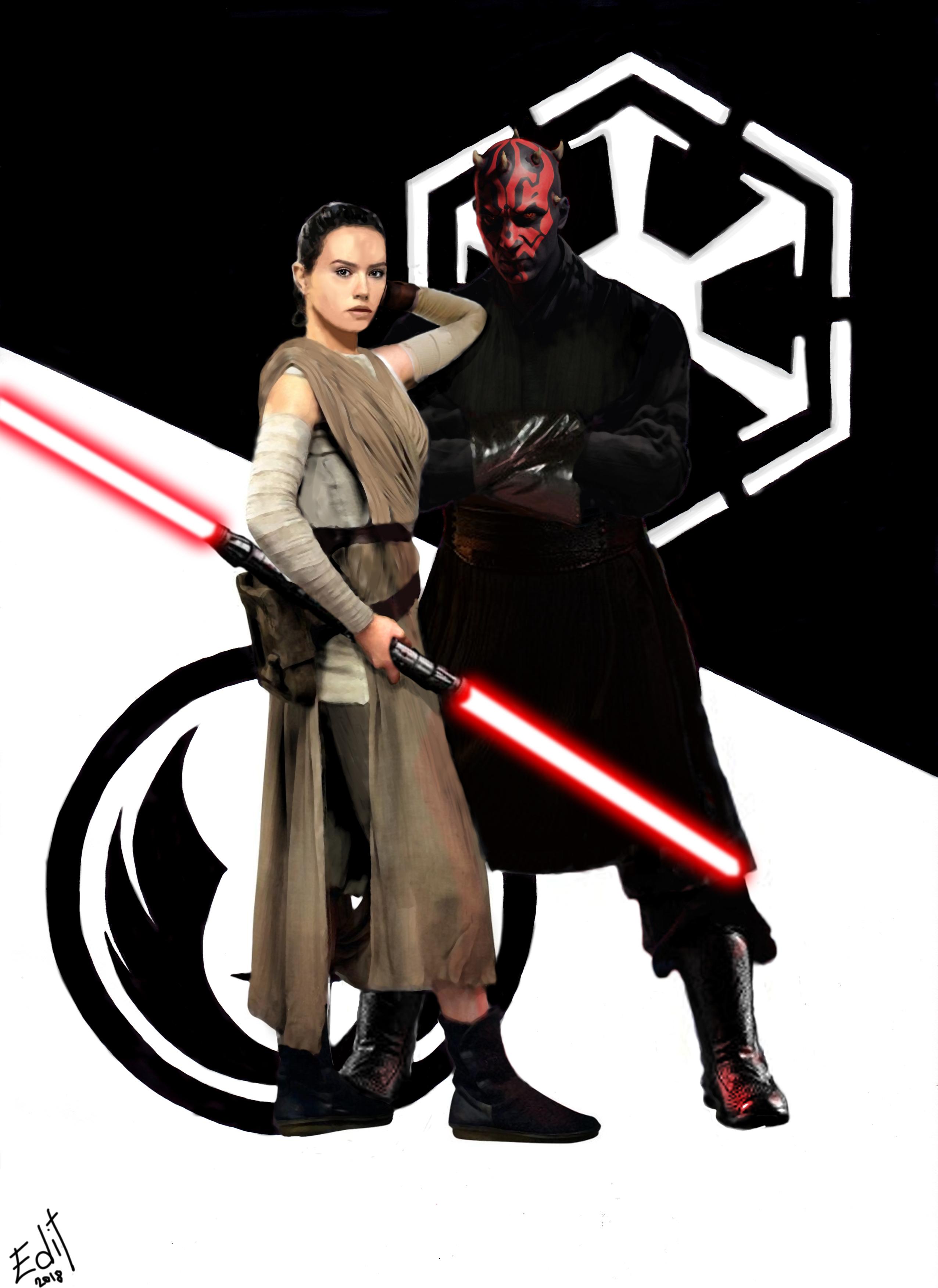 Balance Star Wars Darth Maul Jedi Art