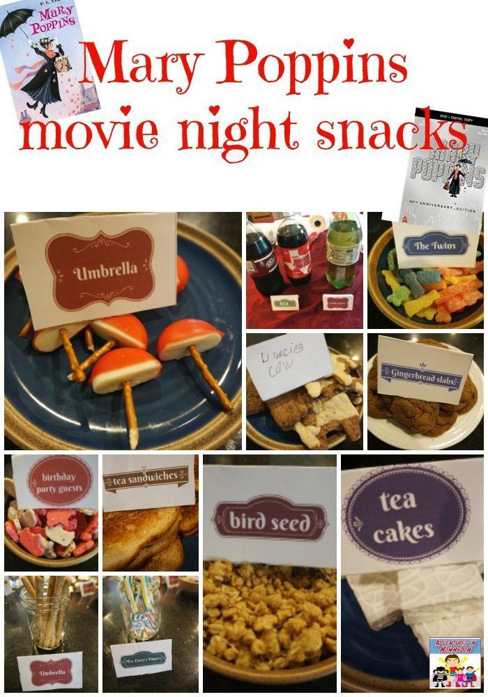Mary Poppins Movie Night Disney Movie Night Dinner Mary Poppins Movie Movie Night Dinner