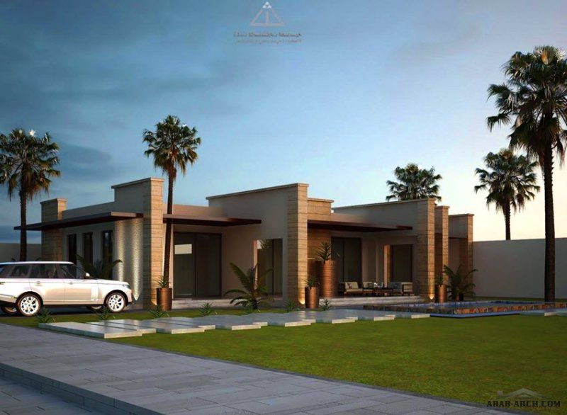 م خطط شاليه مودرن نموذجي دور أرضي مسطح بناء ٢٢١ م مربع مع وجود المخطط الانشاي و المعماري من اعمال ثلث مهندسن معماريون House Styles Mansions House