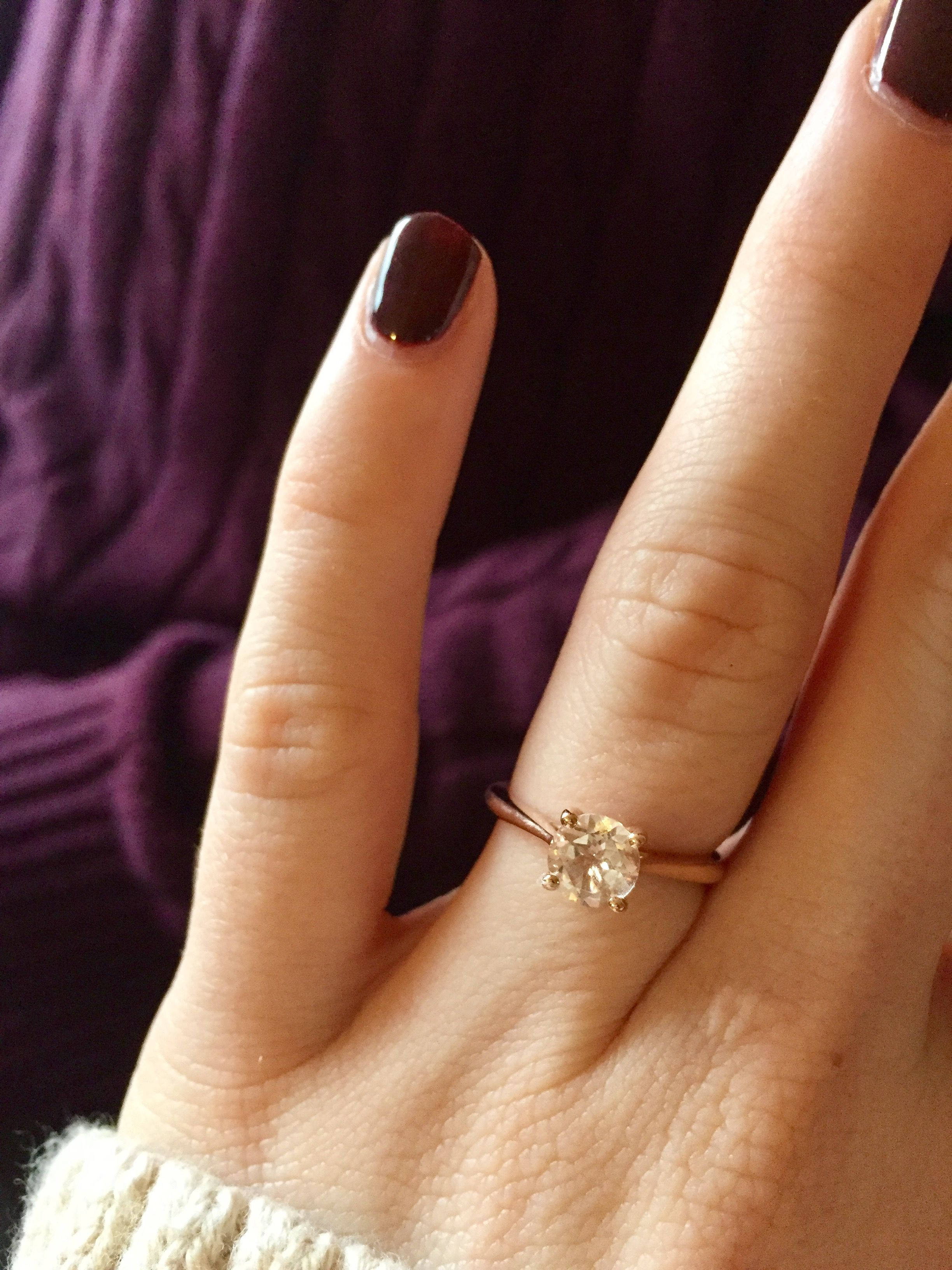 My Beautiful Rose Gold And Morganite Engagement Ring Such A