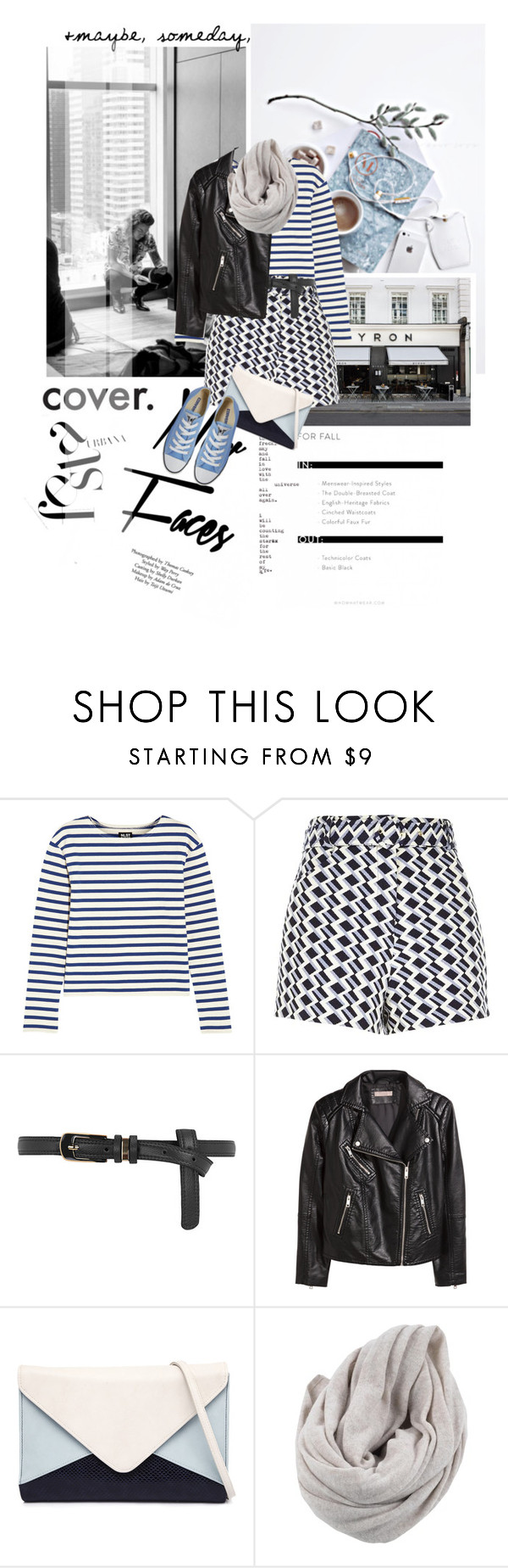 """New faces."" by mutsam17 ❤ liked on Polyvore featuring Topshop, DuÅ¡an, BYRON, NLST, River Island, Dorothy Perkins, H&M, Jendi, White + Warren and Converse"