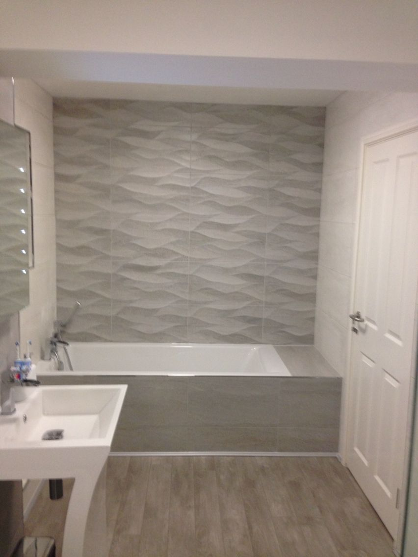 Porcelanosa Tiles Natural and Blanco New Bathroom Bath and