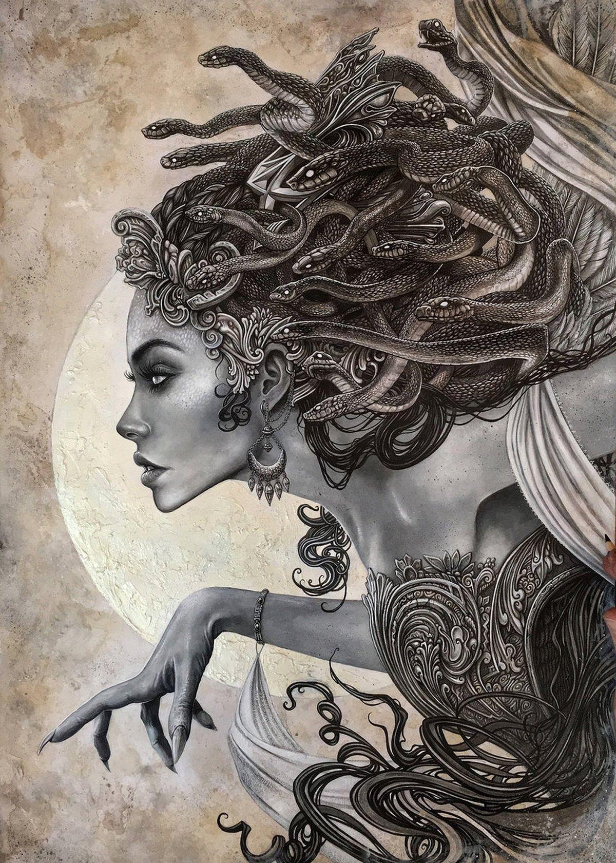 Medusa Tatuajes Mitologia Griega Ilustraciones Mitología Griega Mitología