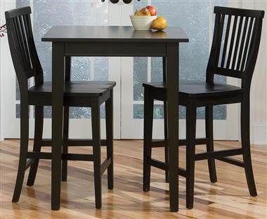 3 Pc Square Bistro Table Set