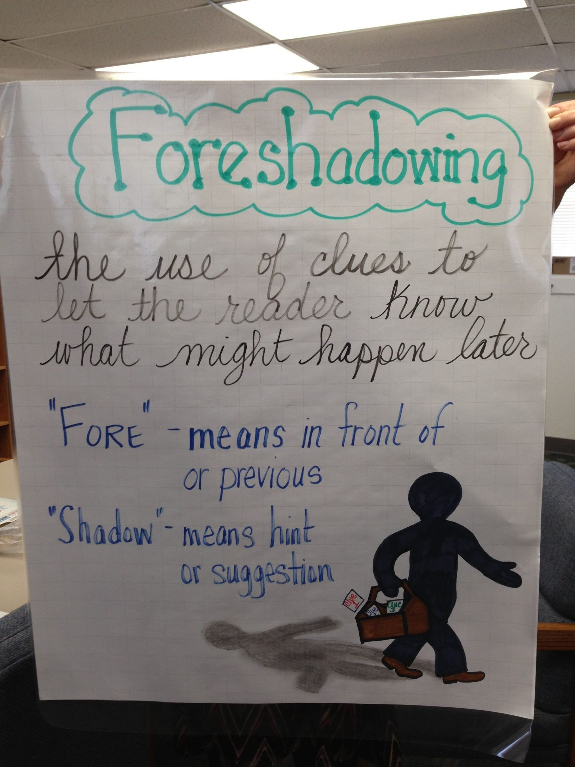 small resolution of Foreshadowing Worksheet Middle School foreshadowing Anchor Chart   Anchor  charts