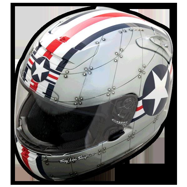 topgun airforce style helmet Motorcycle helmets vintage