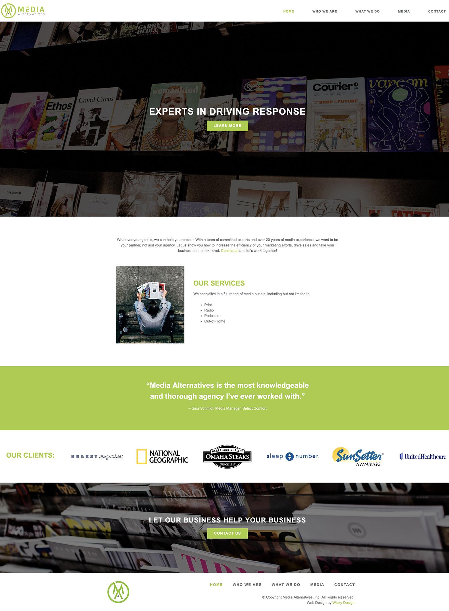 Web Design For Media Alternatives By Wicky Design With Images Wordpress Web Design Web Design Wordpress Website Design