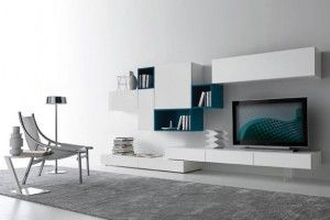 Contemporary Modular Wall Unit Design For Living Room Furniture Modus Collection By Presotto