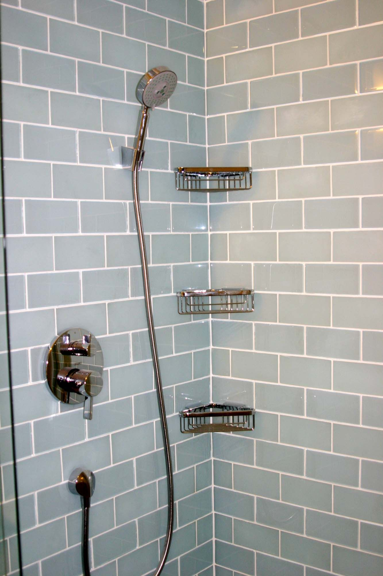 Ann Sacks Glass Subway Tile U0026 Hansgrohe Shower System